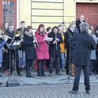Rauman soittokunta esitti En etsi valtaa, loistoa -kappaleen.