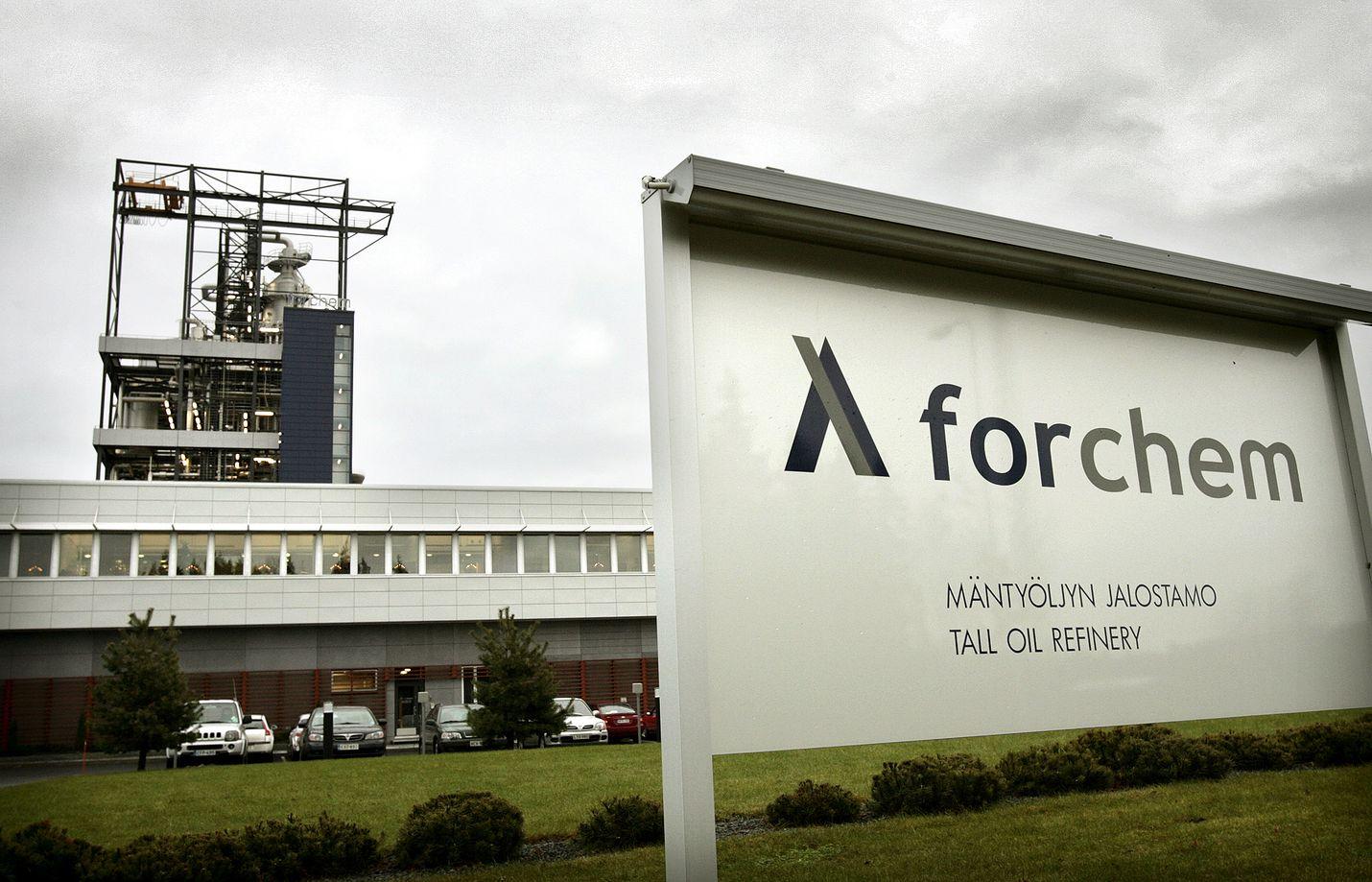 Forchem luo Raumalla huomattavaa lisäarvoa mäntyöljystä.