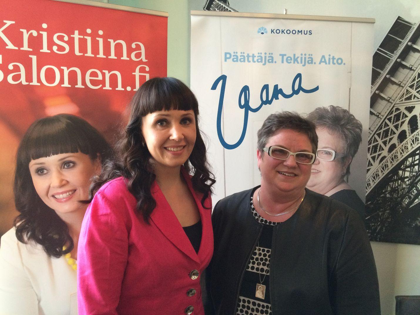 Kristiina Salosen vaalikampanja maksoi noin 40700 euroa, Jaana Laitinen-Pesolan 36 300 euroa. Kumpikin meni läpi.