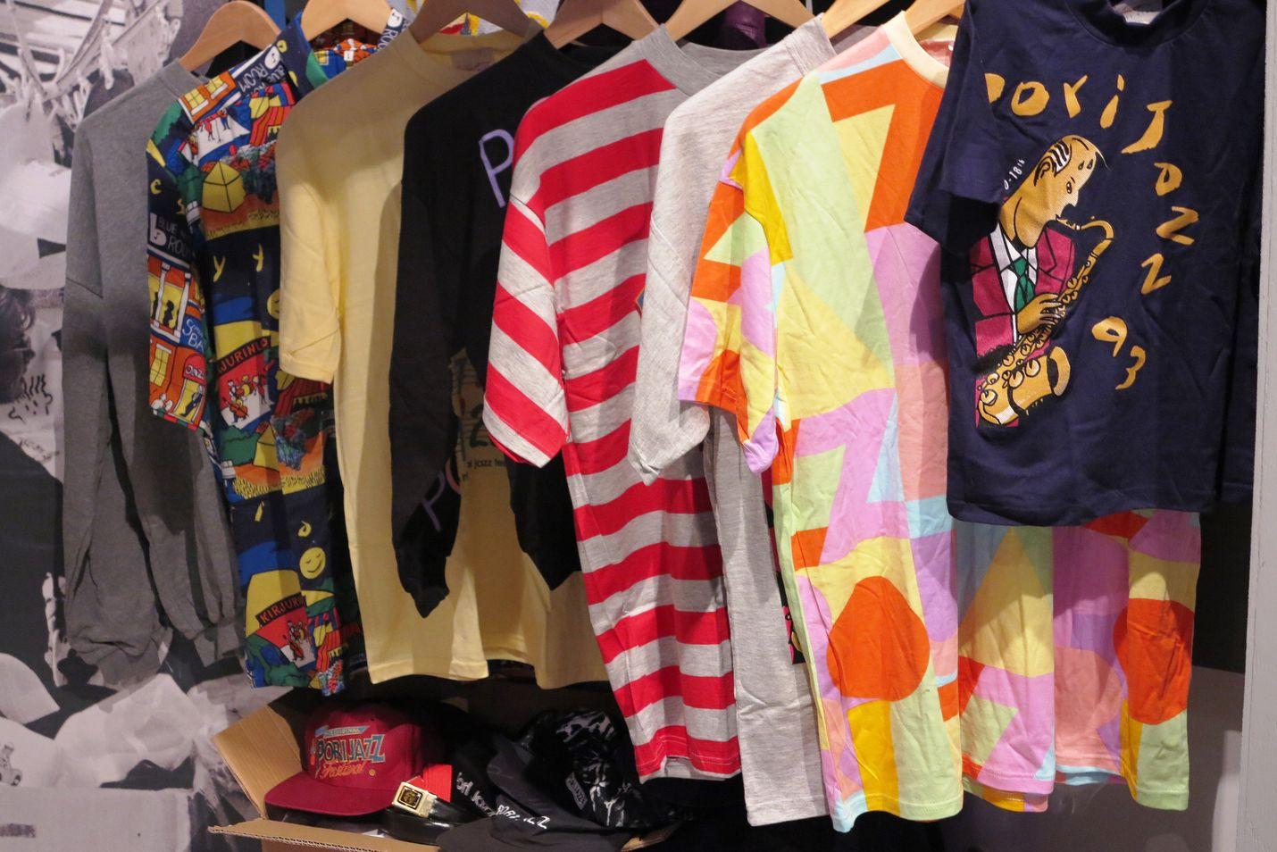 Pori Jazz -paitoja vuosien varrelta (kuva: Ari Anteroinen)