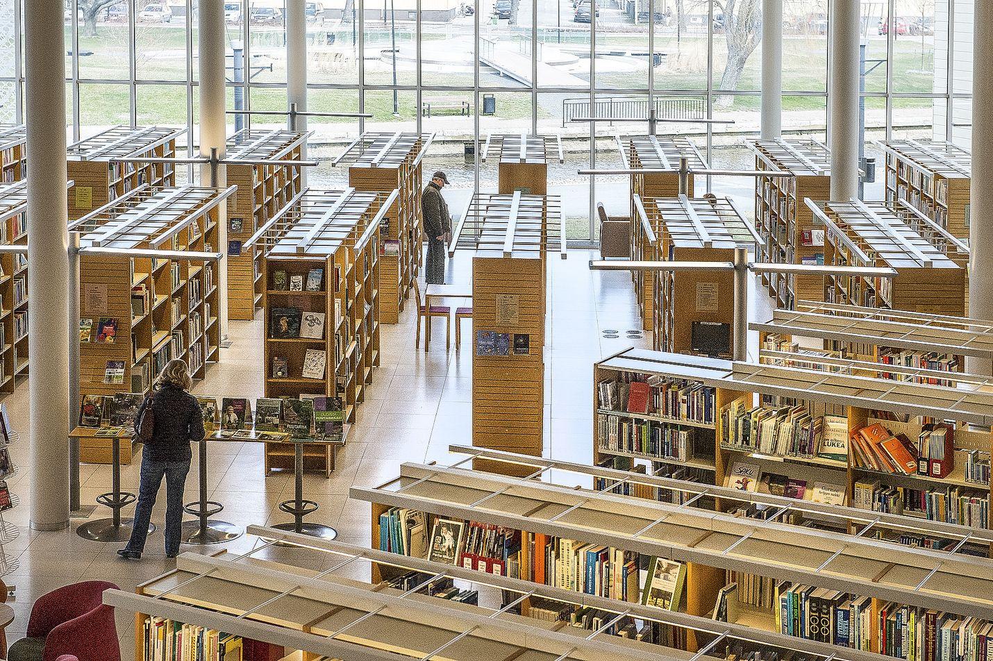 Dekkarit ja vapaa-ajan tietokirjat ovat suosittuja lainattavia kesäaikana. Kuva: LS-arkisto/Pekka Lehmuskallio
