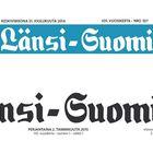 Juhlavuoden kunniaksi Länsi-Suomen logo päivittyi aikaisempaa tummemmaksi ja pelkistetymmäksi. Uusi logo esiintyi jo vuoden ensimmäisessä lehdessä 2.1.2015.