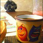 Aamun tärkeimmät: Länsi-Suomi, kahvia ja hyvää seuraa. Kuva: Anne Airio