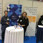 Juhlavuoteen on kuulunut myös messutapahtumia. Urastarttimessuilla Marva Media oli mukana 4.2., paikalla Pia Lainio ja Minna Myllykangas. Kuva: LS-arkisto
