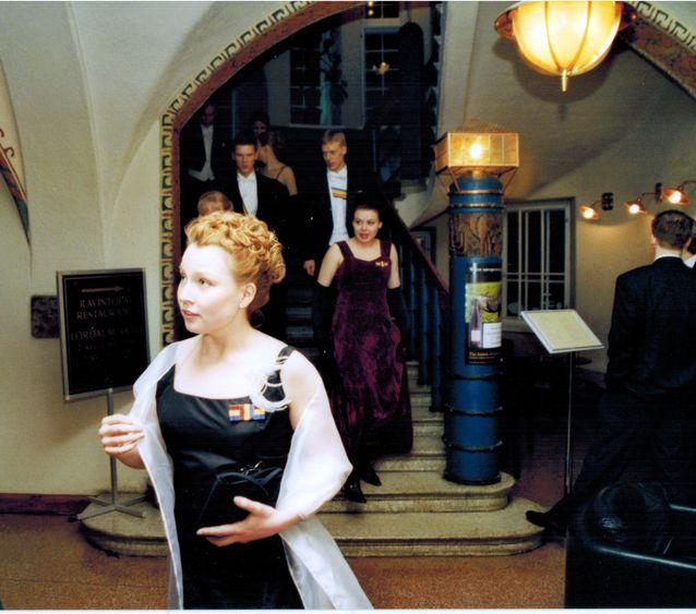Wiipurilaisen osakunnan vuosijuhla maaliskuussa 2002. Kuva: Wiipurilainen osakunta.