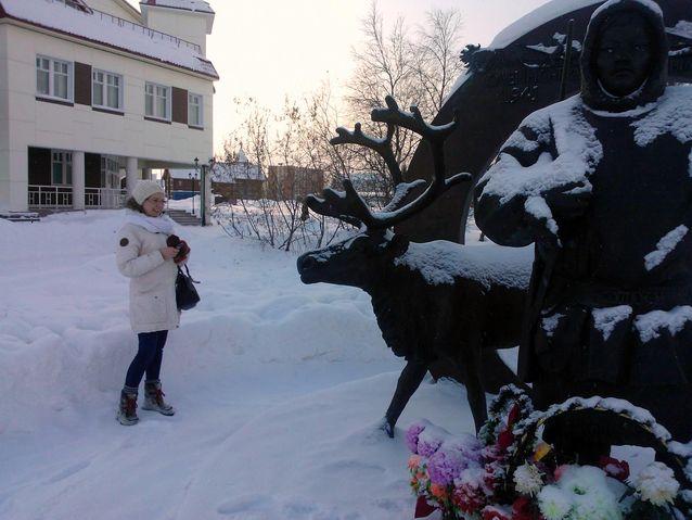 Museotyö vie kummallisiin paikkoihin. Näyttelyvaihdossa Narjan-Marissa Nenetsiassa Venäjällä. Kuvaaja K. Shertsneva.