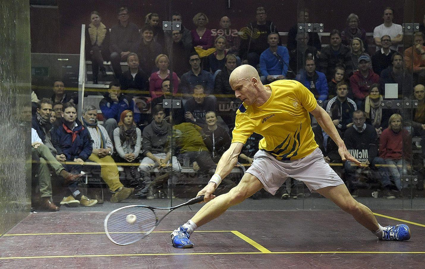 Olli Tuominen pelasi viime viikolla squashin SM-finaaliottelussa Kristian Rautiaista vastaan ja voitti 16. mestaruutensa.