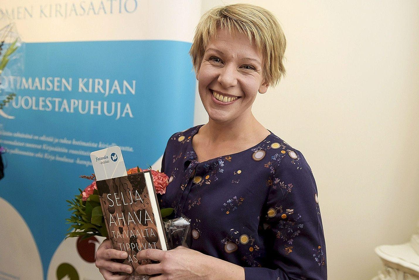 Selja Ahava sai EU:n kirjallisuus- palkinnon