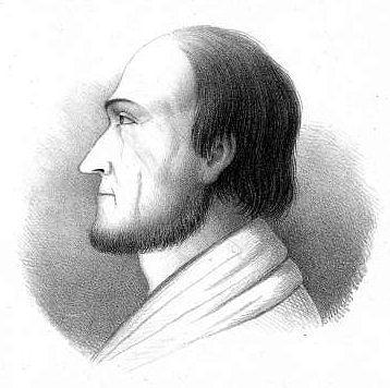 Johanna Ramstedtin vuonna 1852 piirtämä G. A. Wallinin profiili. Kuva: Wikimedia commons/Johanna Ramstedt.