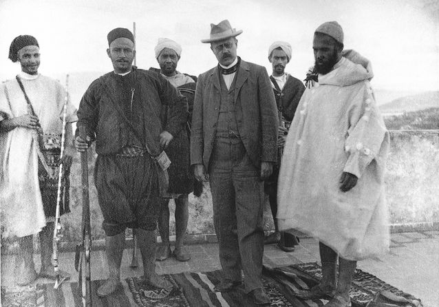 Edvard Westermarck Marokossa. Kuva: Museovirasto.