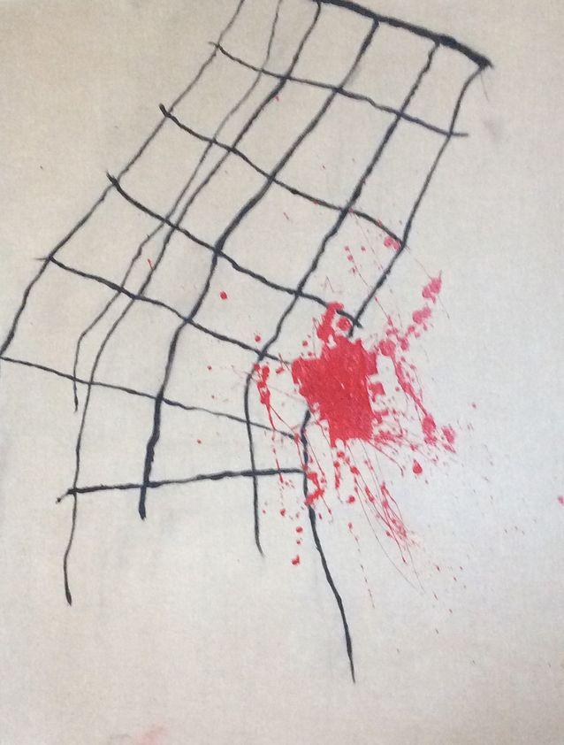 Taide on Anna Mauraselle rakas harrastus. Hän maalaa ja piirtää mielellään, jos aikaa vararehtorin töiltä ja tutkimukselta vain jää. Mauranen maalaa nykyään mieluiten isohkoja abstrakteja töitä. Kuva: Anna Mauranen