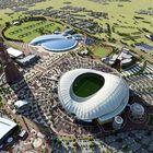 Tältä pitäisi näyttää Khalifan stadion valmiina. Kuva: Eetu Setänen