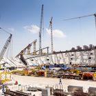 Qatarin kansallisstadion Khalifa toimii myös vuoden 2019 yleisurheilun MM-kisojen päänäyttämönä. Stadionin uudistustöissä on mukana noin 3 000 työntekijää. Kuva: Eetu Setänen