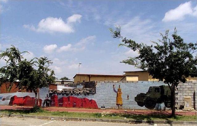 Orlando Westin asuinalue Sowetossa, Johannesburgissa. Kuva: Axel Fleisch
