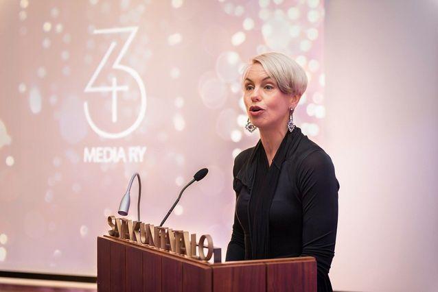 Under sitt arbetsliv har Baba Lybeck ofta hållit tal och lett diskussioner. Hon var konferencier på Media ry:s 43-årsfest hösten 2014.