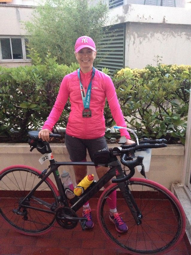 Baba Lybeck on intohimoinen triathlon-harrastaja.