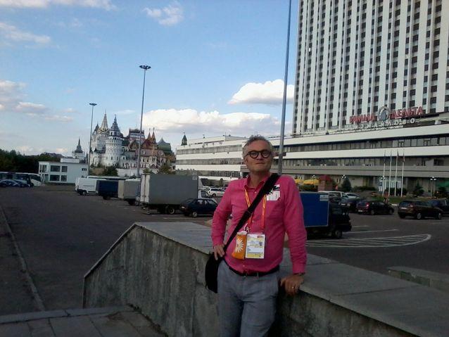 Juha Kanerva Izmailovin hotellilla.