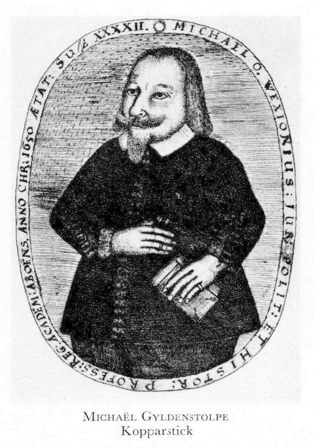 Kopparstick av professor Wexionius. Foto: Svenskt biografiskt lexikon.