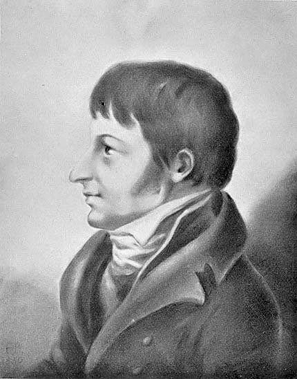 Fredrika Bremerin (1801–1865) maalaama profiili nuoresta Frans Michael Franzénista. Kuva: WikimediaCommons.