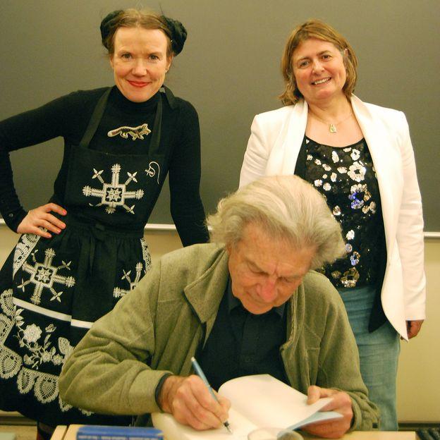 Rosa Liksom, Dominique Fernandez ja Anne Papart. Kuva: Leó Sonnet.