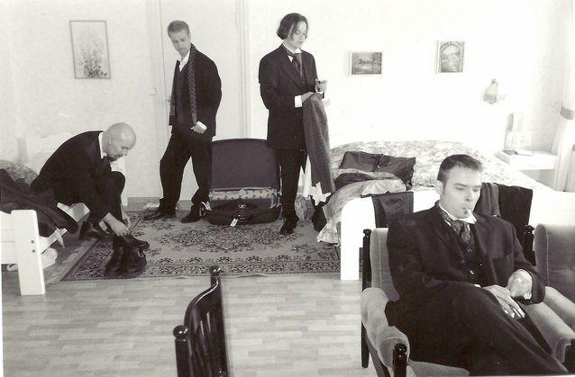 CMX valmistautuu promokuvauksiin vuonna 1998 Kuva: Ari Talusén.