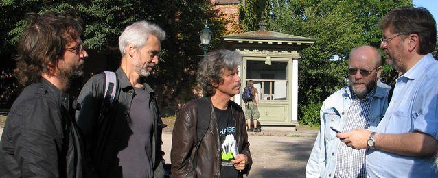 Pohjoismainen säveltäjäneuvosto vuonna 2009: Kjartan Olafsson, Niels Rosing-Schow, Mikko Heiniö, Sten Melin ja Asbjørn Schaathun. Kuva: Annu Mikkonen.