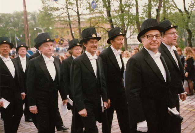 Turun yliopiston 75-vuotisjuhlassa vuonna 1995. Kuva: Joyce Suokas.