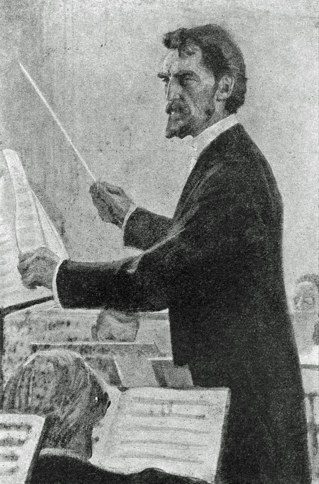 Albert Edelfeltin maalaus Robert Kajanuksesta (1905). WikimediaCommons / Teoksesta Bertel Hintze: Albert Edelfelt. Helsingfors 1949.