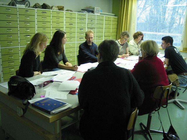 Opetuksen suunnitteluseminaari Lammin biologisella tutkimusasemalla. Kuva: Arja Lehtonen