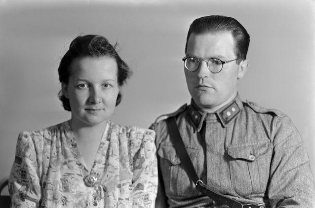 Oiva Ketonen saavutti sotien aikana luutnantin arvon. Kuva: Helsingin kaupunginmuseo