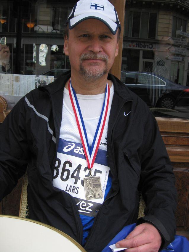 Lars-Folke Landgrén on innokas maratonjuoksija.