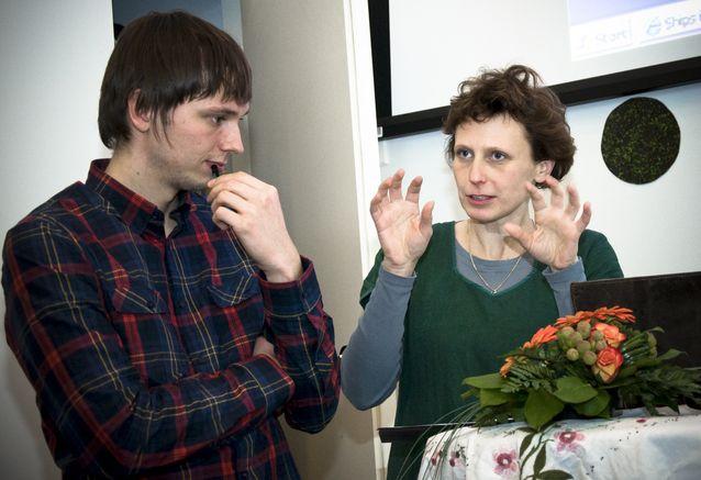 Jessica Parland-von Essen Digitala spår-seminaarissa vuonna 2012. Kuva: Thomas Silén, lisenssi: CC-BY-NC 2.0.