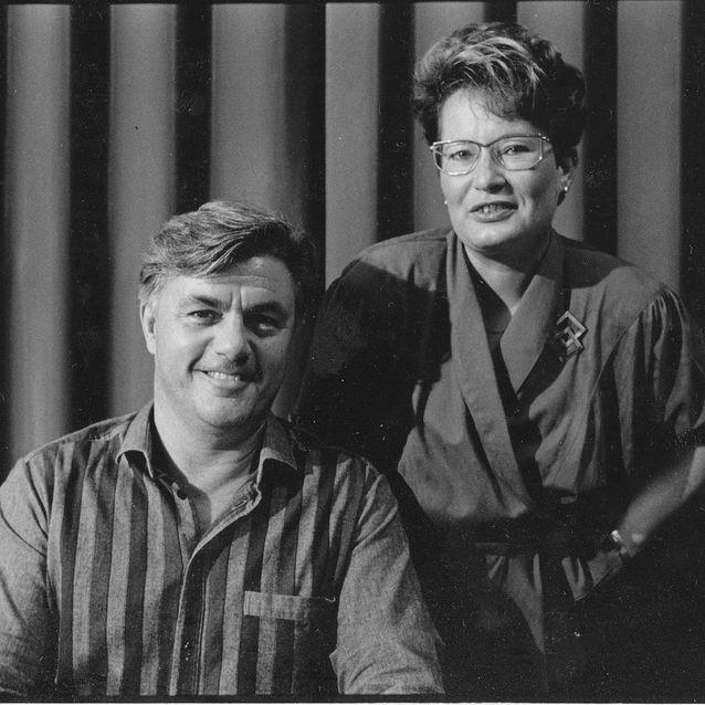John Irving ja hänen luottosuomentajansa joskus 1980-luvulla. Kuva: Pertti Nisonen