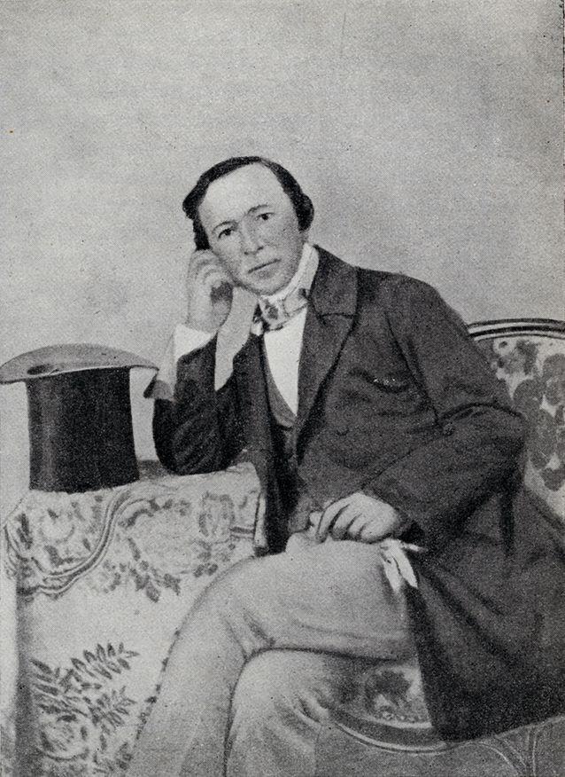 Zacharias Topelius Pariisissa vuonna 1856. Kuvalähde: Svenska litteratursällskapet i Finland.