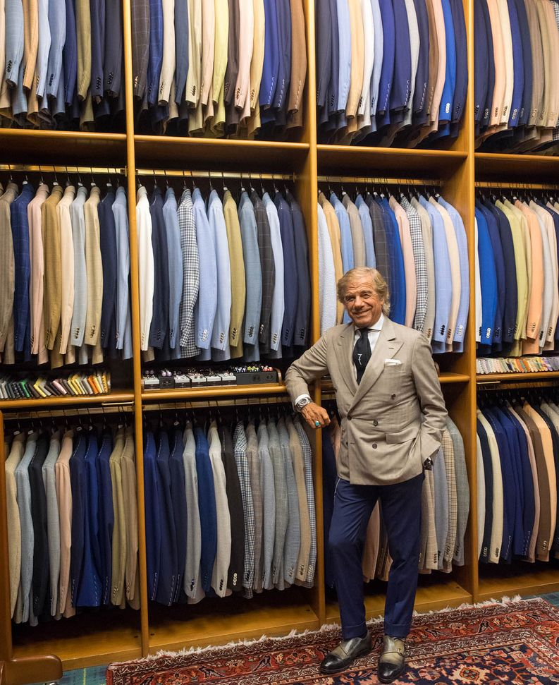 Lino and his colorful selection of jackets.​