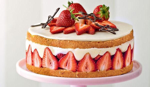 James Martin Strawberry Flan Cake