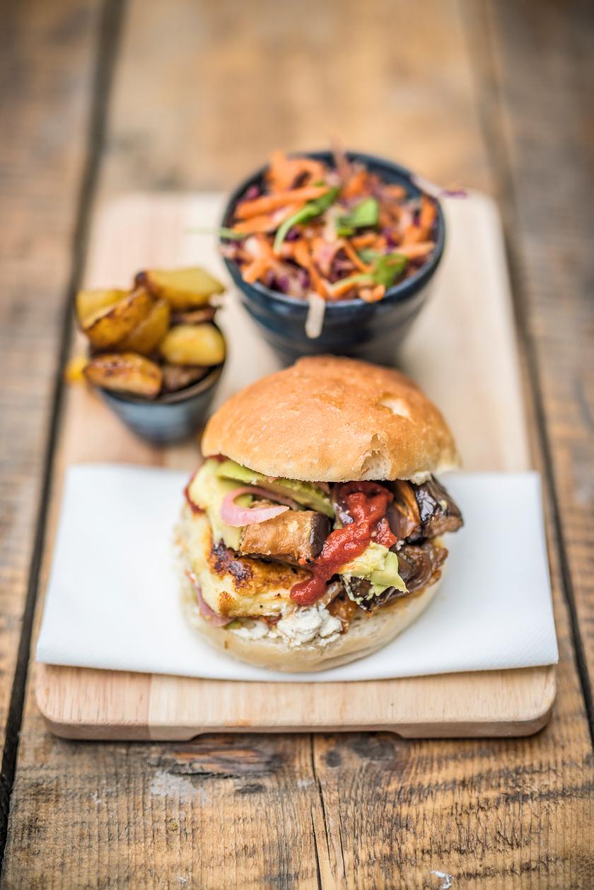 best vegetarian halloumi burger recipe