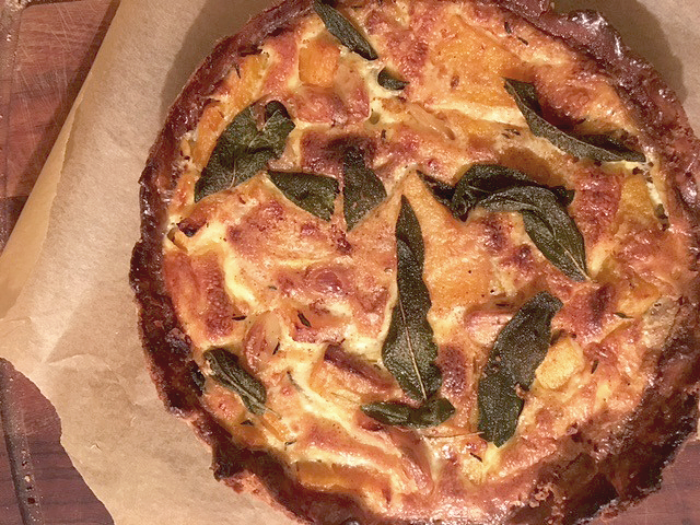 Squash, Browned Butter and Sage Quiche review the Violet Bakery