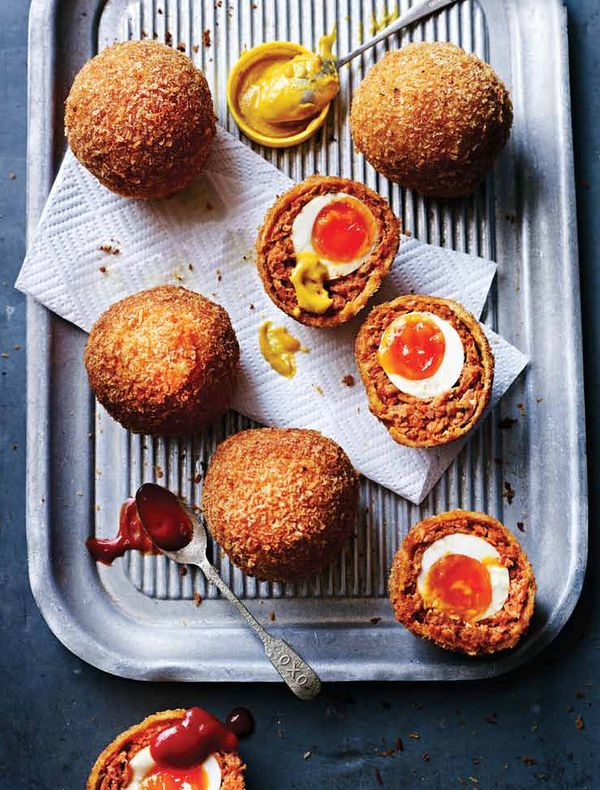 Chorizo Scotch Eggs different ways to use eggs