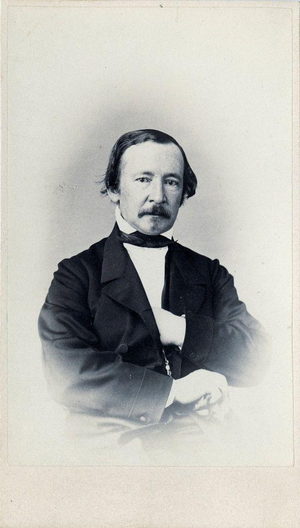 Zacharias Topelius år 1850. Bildkälla: Svenska litteratursällskapet i Finland.