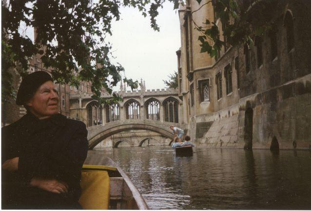 Georg Henrik von Wright återvände även senare i sitt liv till floden Cam, där han fick sin banbrytande tanke om modala begrepp. Bild: von Wright och Wittgenstein arkivet.