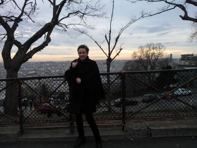 Pariisissa matkalla.