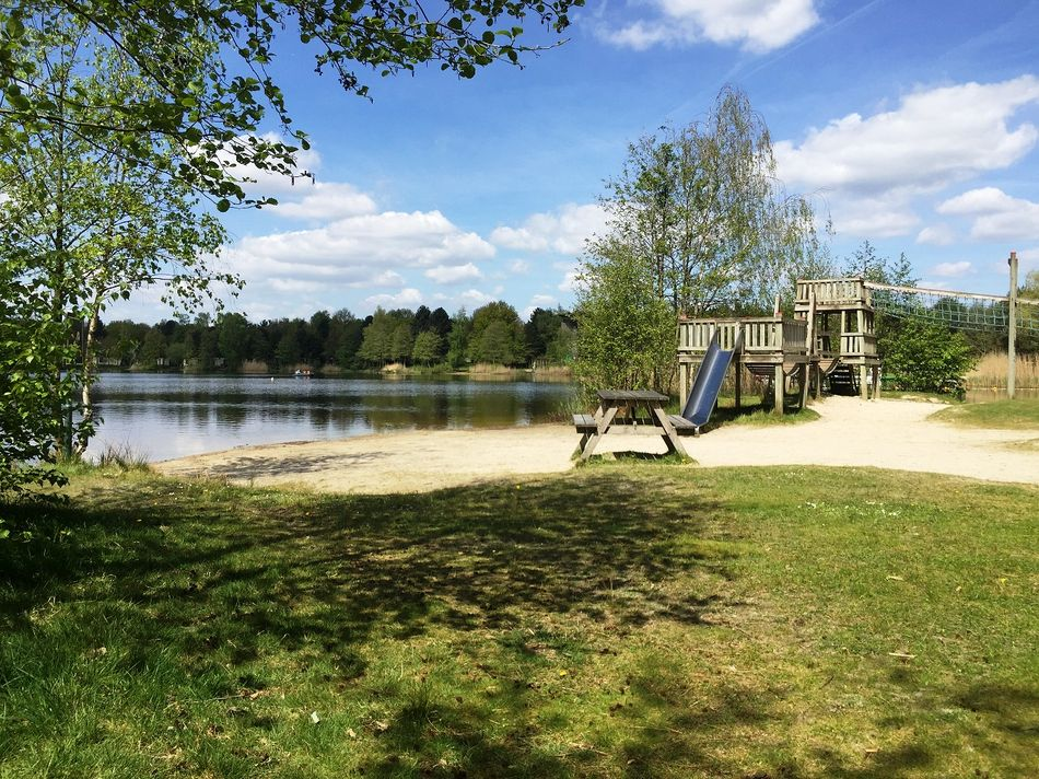Picknickplatz 2 in Het Meerdal: am See in der Sonne
