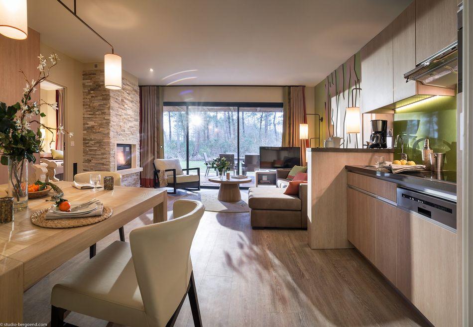 Küche und Essbereich Eden-VIP-Ferienhaus für 2 Personen