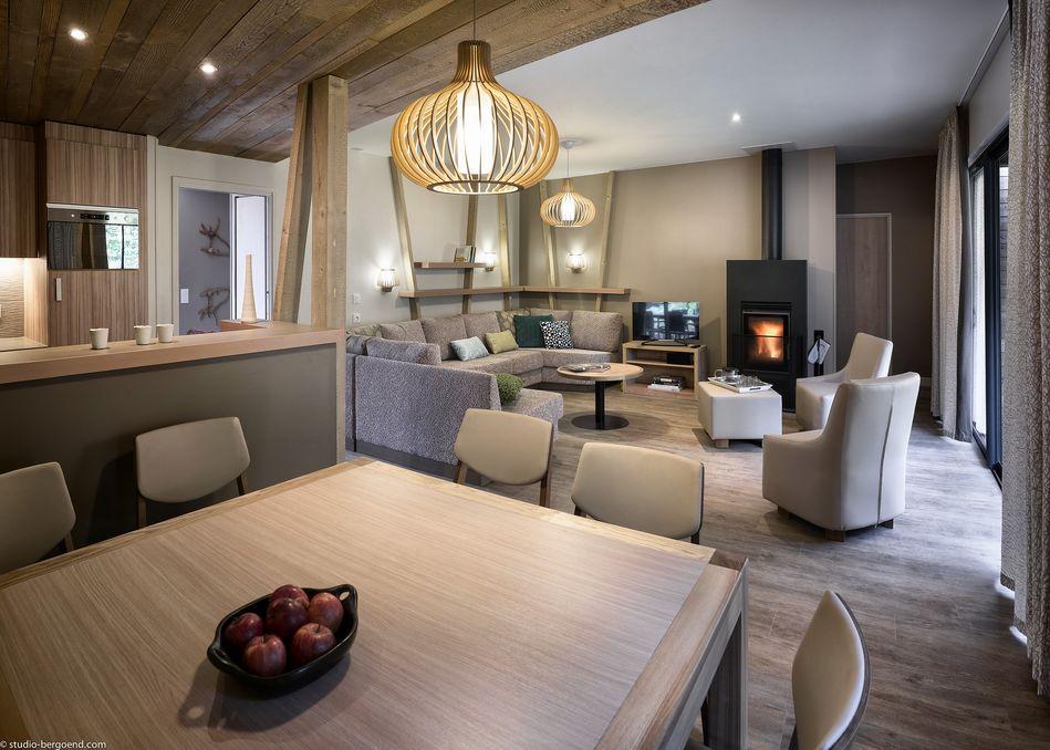 Wohn- und Essbereich Eden-Premium-Ferienhaus für 8 Personen