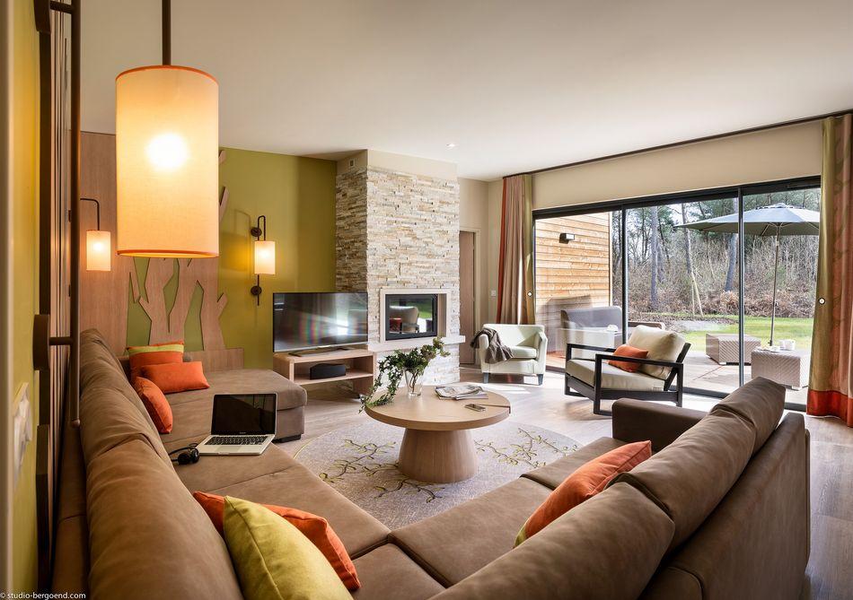 Wohnbereich Eden-VIP-Ferienhaus für 8 Personen
