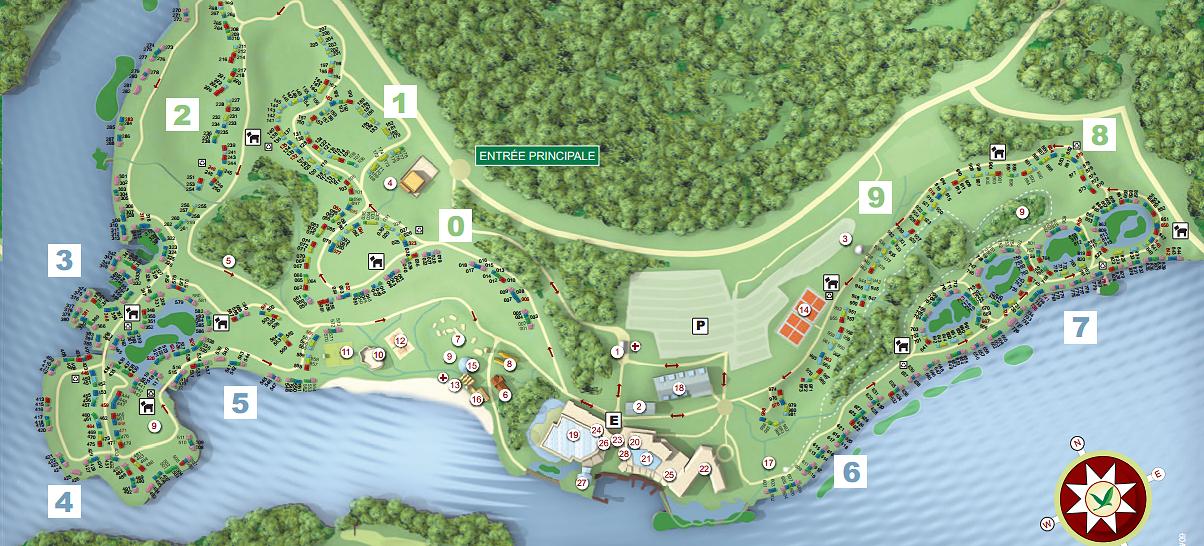 plan et accès à center parcs le lac d'ailette