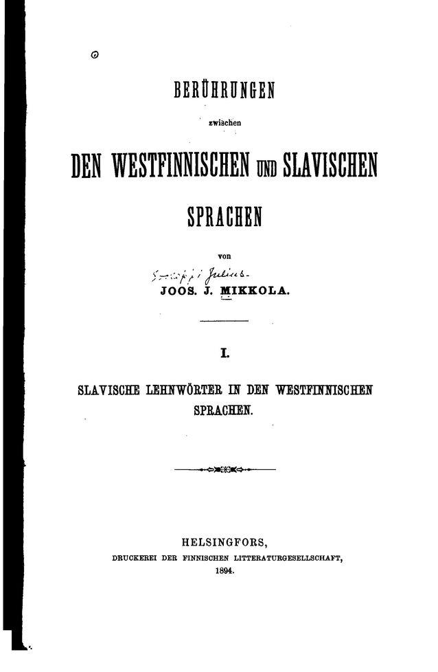 J. J. Mikkolan väitöskirjan laajennettu painos.