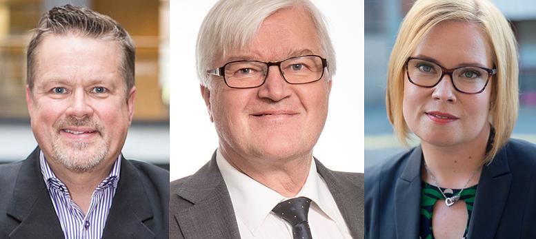 Pekka Sivonen, Juhani Eskola ja Laura Räty