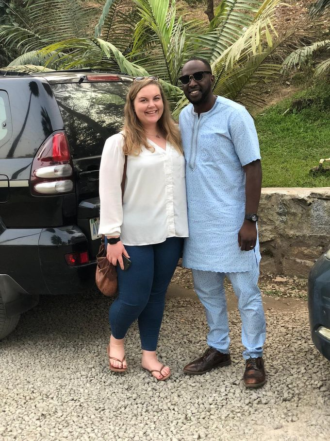 Kim and Evan in Nigeria.